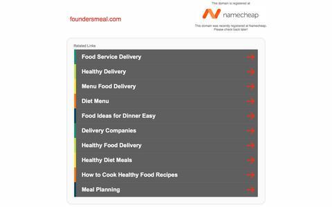 Screenshot of Home Page foundersmeal.com - foundersmeal.com - captured Aug. 17, 2018