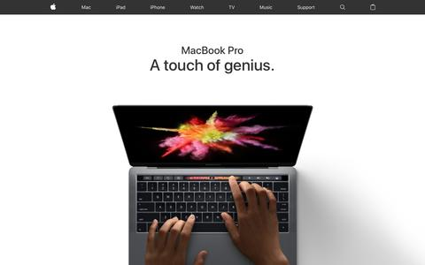 Screenshot of Home Page apple.com - Apple - captured Jan. 30, 2017