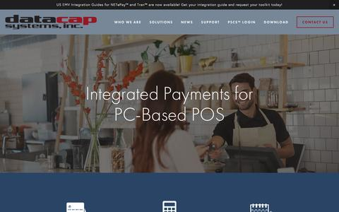 PC-Based POS — Integrated Payments  - Datacap Systems, Inc.