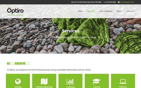 Screenshot of Services Page optiro.com - Services • Optiro - captured June 13, 2017