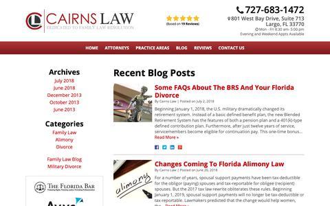 Screenshot of Blog cairnslaw.com - Blog | Cairns Law - captured Oct. 24, 2018