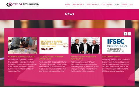 Screenshot of Press Page taylortechnologysystems.com - News - Taylor Technology Services - captured Oct. 18, 2018