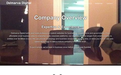 Screenshot of About Page delmarvadigital.com - Company Overview | Delmarva Digital - captured Dec. 19, 2018