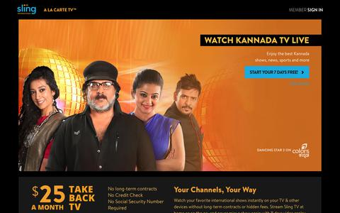 Sling TV - Watch Live Kannada Channels on the #1 Live International TV provider in the US