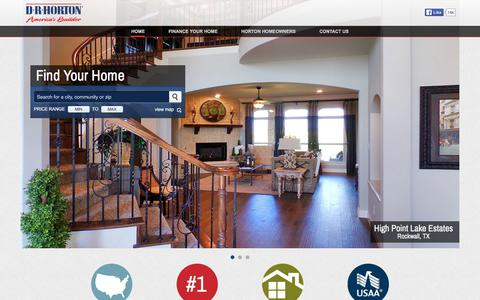Screenshot of Home Page drhorton.com - America's Largest Home Builder | D.R. Horton - captured Dec. 19, 2015
