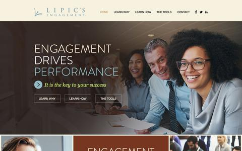 Screenshot of Home Page lipic.com - Employee Engagement | Lipic's Engagement - captured Dec. 15, 2018