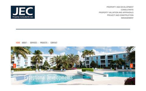 Screenshot of Home Page jec.ky - Experienced Chartered Surveyors | JEC Property Consultants Cayman - captured Oct. 1, 2018