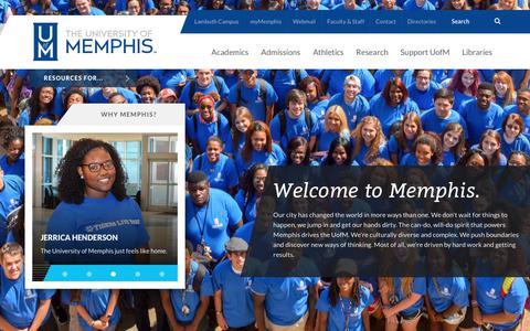 The University of Memphis - UofM -        Prospective Students        - University of Memphis