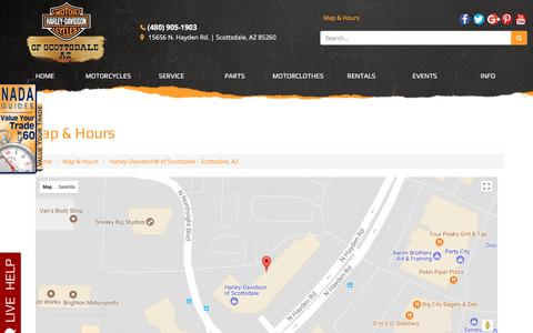 Screenshot of Locations Page hdofscottsdale.com - Location Detail - Harley-Davidson® of Scottsdale - Scottsdale, AZ Harley-Davidson® of Scottsdale Scottsdale, AZ (480) 905-1903 - captured Nov. 19, 2017