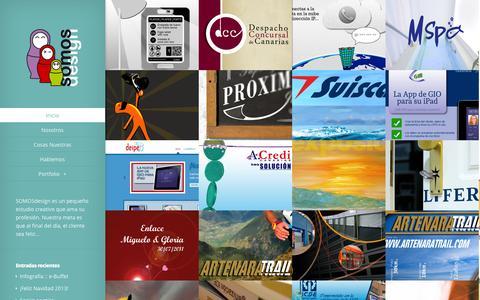 Screenshot of Home Page somosdesign.es captured Oct. 7, 2014
