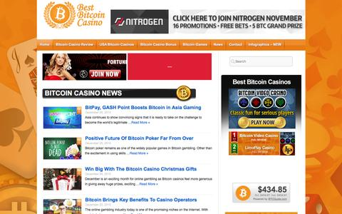 Screenshot of Home Page bestbitcoincasino.com - Best Bitcoin Casino � Play the best Bitcoin Casino - captured Jan. 1, 2016