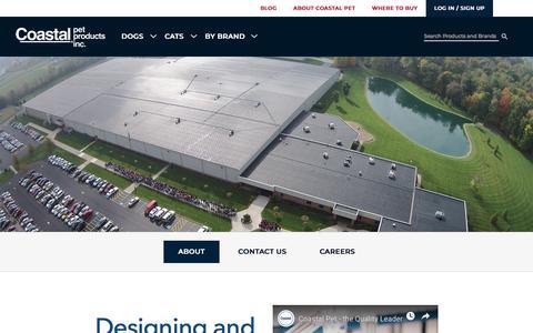 Screenshot of About Page coastalpet.com - Learn About Coastal Pet Products | Coastal Pet Products - captured July 26, 2019