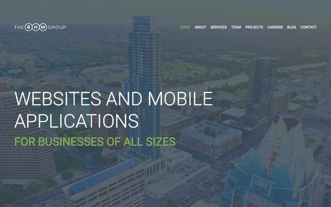 Screenshot of Home Page thebhwgroup.com - Mobile App Development & Web Development | Austin, TX - captured June 17, 2015