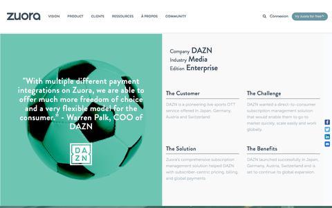 Screenshot of Case Studies Page zuora.com - DAZN Case Study - Zuora - captured Sept. 11, 2017