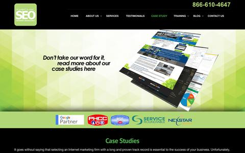 Screenshot of Case Studies Page plumberseo.net - Plumbing & HVAC SEO Case Studies & Examples - Internet Marketing - captured July 19, 2018