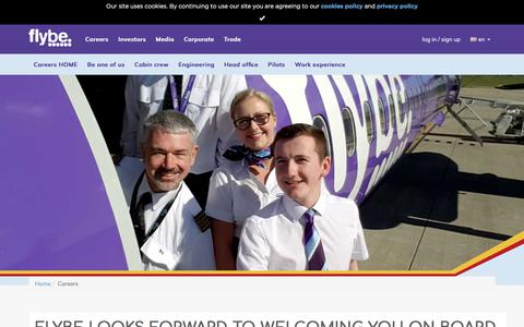 Screenshot of Jobs Page flybe.com - Careers   Flybe - captured Jan. 11, 2018