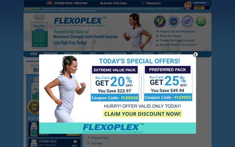Screenshot of Site Map Page flexoplex.com - Site Map - captured Sept. 29, 2018