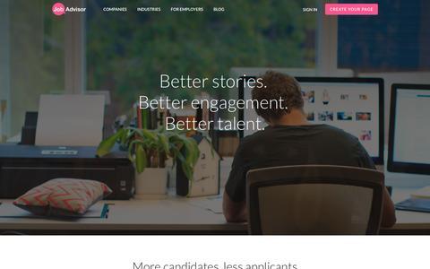 Screenshot of Pricing Page jobadvisor.com.au - Build a Trusted Employer Brand | JobAdvisor - captured Sept. 5, 2016