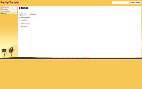 Screenshot of Site Map Page google.com - Sitemap - Reddy Traveler - captured Dec. 13, 2016