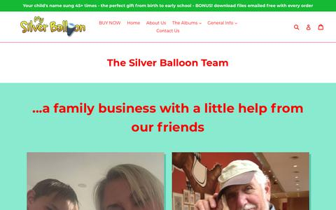 Screenshot of About Page silverballoon.com - The Silver Balloon Team                      – Silver Balloon UK - captured Sept. 21, 2018