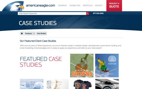 Screenshot of Case Studies Page americaneagle.com - Case Studies | Americaneagle.com - captured Oct. 3, 2015