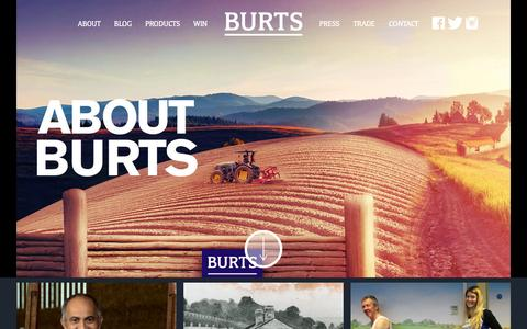Screenshot of About Page burtschips.com - About Us - Burts Chips - captured Feb. 8, 2016