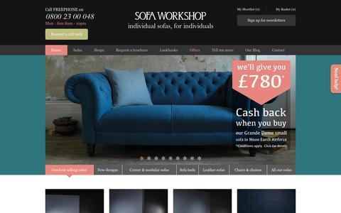 Screenshot of Home Page sofaworkshop.com - Modern Luxury Furniture, Fabric Sofas & Leather Sofas | Sofa Workshop - captured Sept. 24, 2014