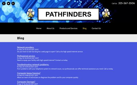 Screenshot of Blog pathfinderscompany.com - Blog | Ethernet Cable Certification & Cable Install Abilene, TX - captured April 14, 2017