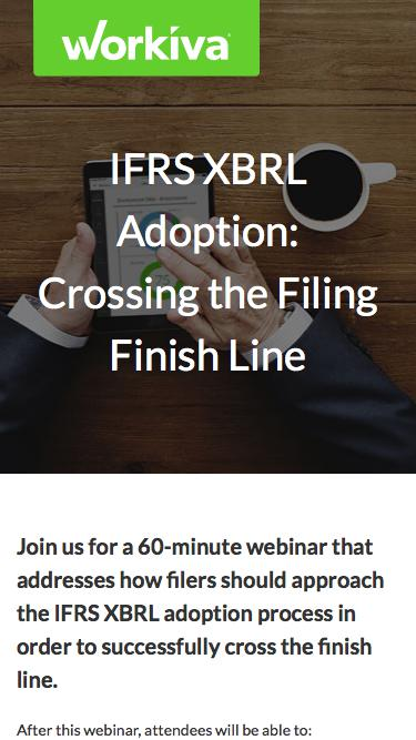 SEC IFRS XBRL Adoption | Workiva
