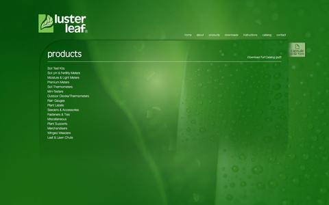 Screenshot of Products Page lusterleaf.com - Luster Leaf Gardening Products - Products - captured Nov. 15, 2016