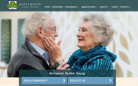Screenshot of Home Page maplewoodseniorliving.com - Maplewood Senior Living - captured Sept. 20, 2018