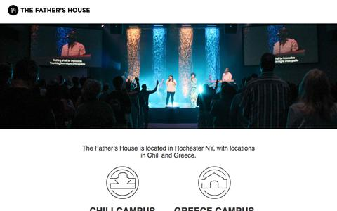 Screenshot of Locations Page tfhny.org - Locations and Service Times   The Father's House - captured Nov. 26, 2017