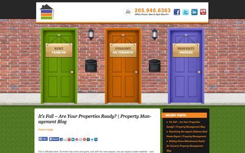 Screenshot of Blog gkhouses.com - gkhouses - Birmingham Property Management | Property Managers serving the Birmingham, Alabama Rental Market - captured Oct. 3, 2014