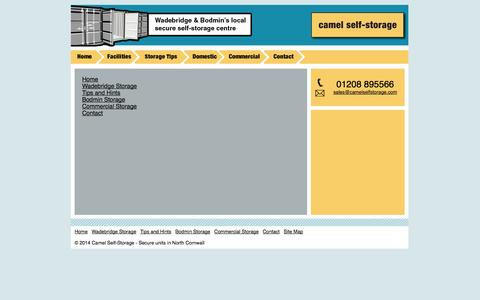 Screenshot of Site Map Page camelselfstorage.com - Site Map - captured Oct. 1, 2014