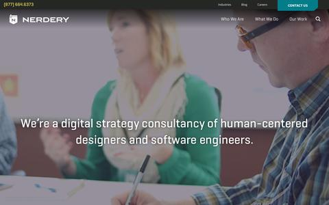 Screenshot of Home Page nerdery.com - The Nerdery | Custom Software Design and Development - captured Nov. 4, 2016