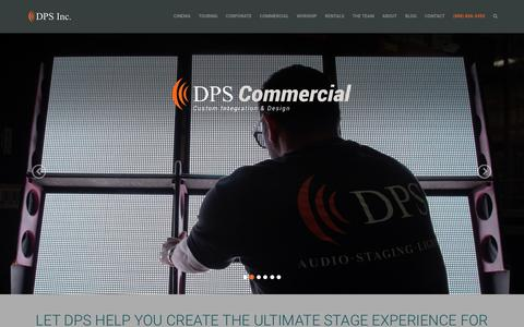 Screenshot of Home Page dpsinc.com - DPS Inc. - Lighting, Audio, Video & Sound Production Services - captured Dec. 5, 2015