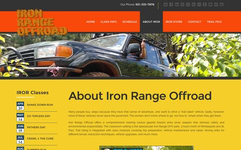 Screenshot of About Page ironrangeoffroad.com - Learn more about offroading from Iron Range Offroad - captured Feb. 11, 2016