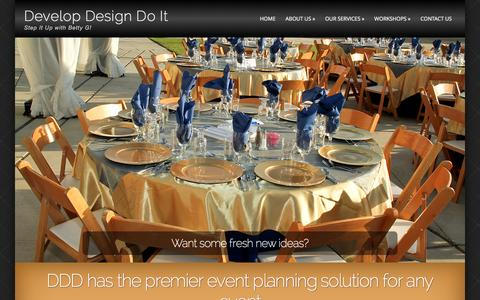 Screenshot of Home Page developdesigndoit.com - Fresno Event Planner (559) 222-7366 - captured Jan. 7, 2016