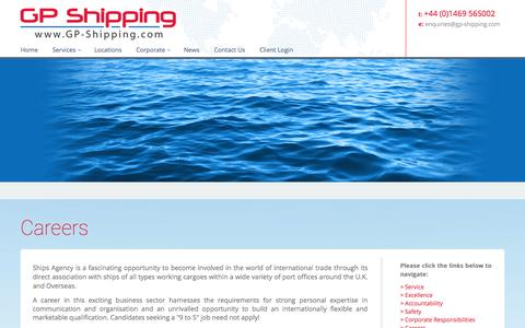 Screenshot of Jobs Page gp-shipping.com - Careers At GP Shipping - captured Sept. 27, 2014