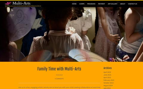 Screenshot of Blog multi-arts.org - Multi-Arts PROGRAMS Multi-Arts: empowering young artists, nurturing creativity and instilling a lifelong love of the arts. - Blog - captured July 8, 2018