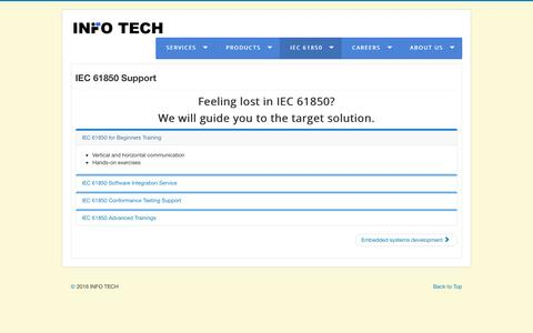 Screenshot of Support Page infotech.pl - Support - captured July 21, 2016