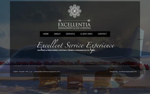 Screenshot of Team Page excellentia-management.com - Excellentia Management and Life Curating - captured Jan. 31, 2016