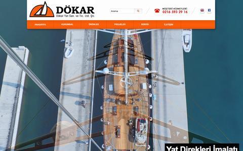 Screenshot of Home Page dokaryat.com - Dökar Yat - captured Oct. 5, 2014