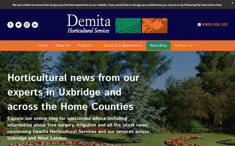 Screenshot of Blog demita.co.uk - News/Blog | Demita Horticultural Services - captured Nov. 13, 2018