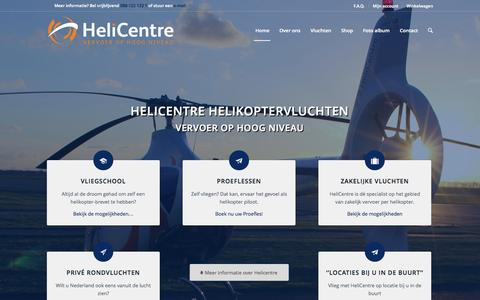 Screenshot of Home Page helicentre.eu - Helikoptervlucht maken? Helicentre Helikoptervluchten - captured Jan. 19, 2015