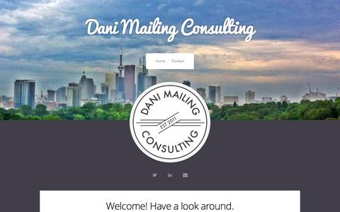 Screenshot of Home Page daniellamailing.com - Dani Mailing Consulting - captured Nov. 23, 2016