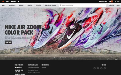 Screenshot of Home Page nike.com.br - Nike Store Brasil - Loja Oficial Nike.com - captured Nov. 11, 2015