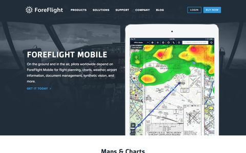 Screenshot of Products Page foreflight.com - ForeFlight - ForeFlight Mobile Electronic Flight Bag - captured Jan. 18, 2016