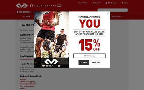 Screenshot of Contact Page mcdavidusa.com - McDavidUSA | Contact Us - captured Oct. 20, 2015