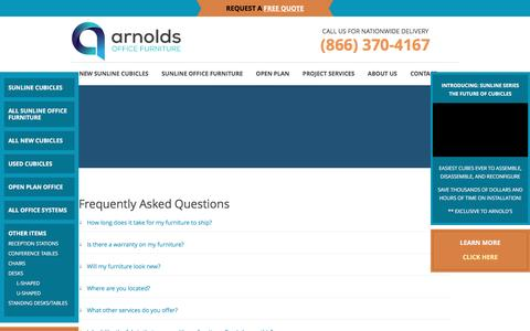 Screenshot of FAQ Page arnoldsofficefurniture.com - FAQs - captured May 30, 2017